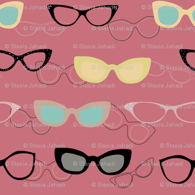 1950s Specs on Pink Flamingo