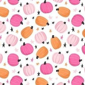 Cute Pink & Orange Pumpkins and Stars
