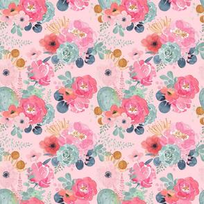 Succulent Bouquet - Blush