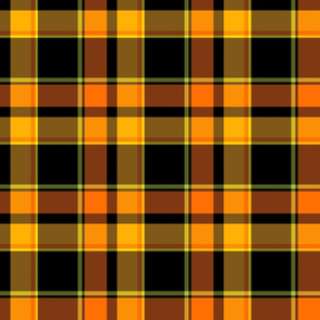halloween pumpkin plaid