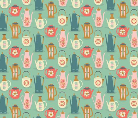 60s teapots  fabric by studiojenny on Spoonflower - custom fabric