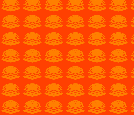 Square burgers fabric by theitsiegypsy on Spoonflower - custom fabric