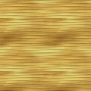 Gold Metallic Stripes Wide on Black
