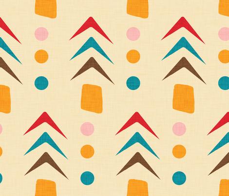 1950 mod  fabric by bruxamagica on Spoonflower - custom fabric