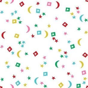 rainbow stars // moon, star, rainbow, nursery, baby, neutral kids, baby