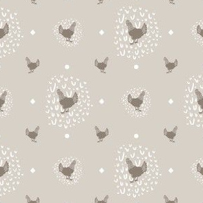 Farmhouse Chicken Polka Dot + Doodle Print // Sing for Your Supper // Modern Farmhouse Collection