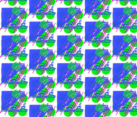 60s Swedish ad geometric fabric by resistanthearts on Spoonflower - custom fabric