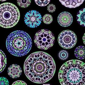 Boho Blooms Violet Skulls