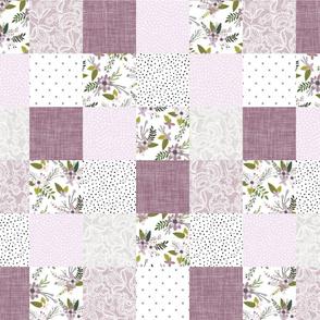 "5"" squares // lavender sprigs patchwork wholecloth"