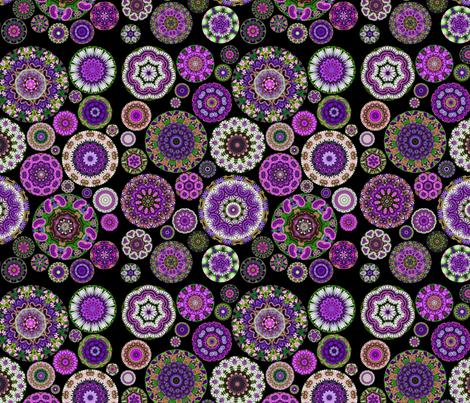 Boho Blooms Vivid Violet fabric by amy_kollar_anderson on Spoonflower - custom fabric
