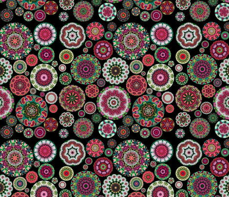 Boho Bloom Hot Pink fabric by amy_kollar_anderson on Spoonflower - custom fabric