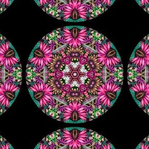 Daisy Face Mandala Hot Pink