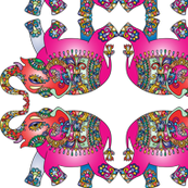 Colourful Indian Elephant
