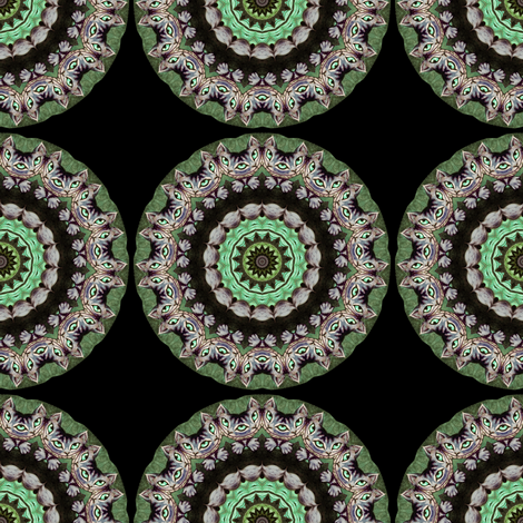 Cheshire Cat Mandala Olive fabric by amy_kollar_anderson on Spoonflower - custom fabric