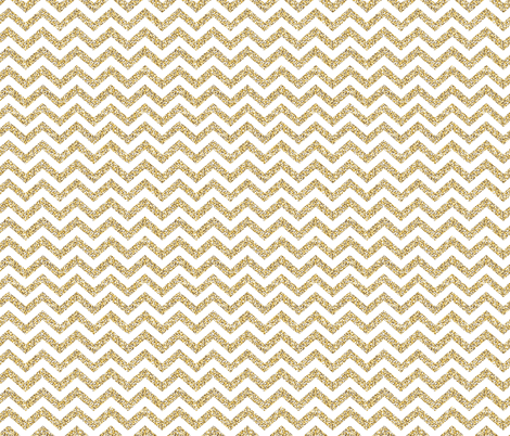 Gold Chevron on White fabric by fabric_is_my_name on Spoonflower - custom fabric