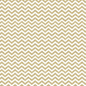 Gold Chevron on White