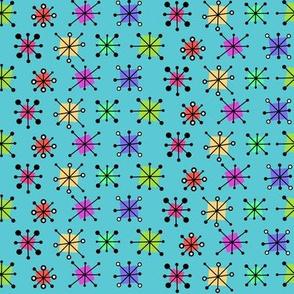 Mini starbursts on aqua