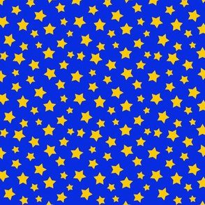 Stars Yellow on Dark Blue