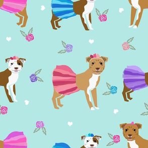LARGE pitbull tutus girly florals pitbulls dog cute fabric