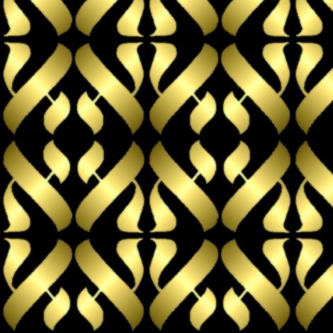 Metallic Alef fabric by anneostroff on Spoonflower - custom fabric