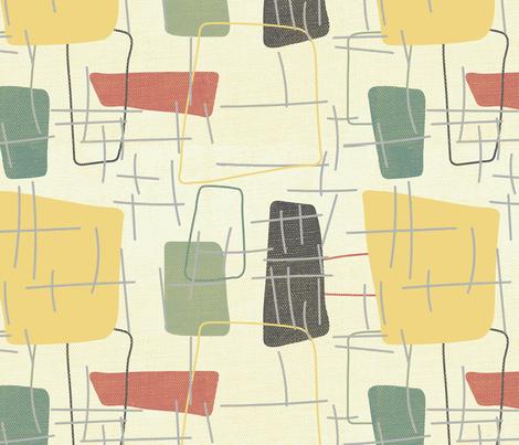 Fifties Formica fabric by owlandchickadee on Spoonflower - custom fabric