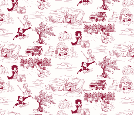 Crystal Gem Toile de Jouy fabric by alex_plalex on Spoonflower - custom fabric