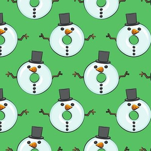 snowman donuts - green - Christmas & winter