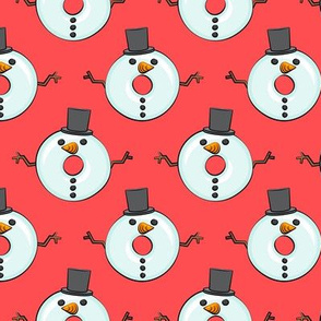 snowman donuts - red - Christmas & winter