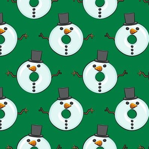 snowman donuts - dark green - Christmas & winter