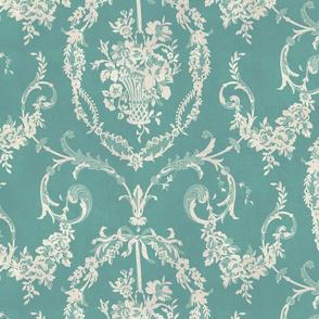 Victorian Floral / Aqua