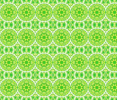 Sunbeam Spots and Palm Leaves Border Print fabric by rhondadesigns on Spoonflower - custom fabric