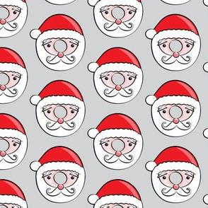 Santa donuts - grey - Christmas & winter
