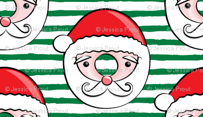 Santa donuts - dark green stripes - Christmas & winter
