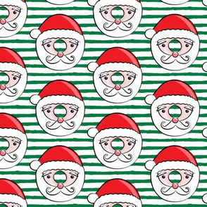 Santa donuts - dark green stripes - Christmas & winter