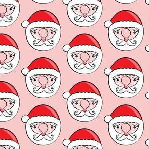 Santa donuts - pink - Christmas & winter
