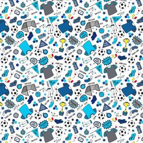Soccer Fun, Blue tones, small