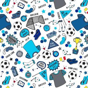 Soccer Fun, Blue tones, large