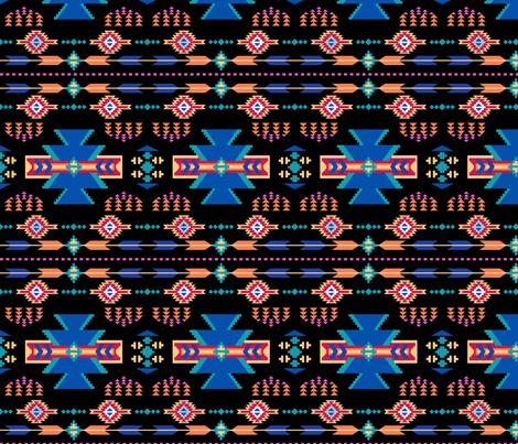 Aztec Southwestern Black fabric by phyllisdobbs on Spoonflower - custom fabric