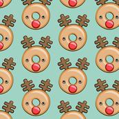 Reindeer donuts - mint - Christmas & winter