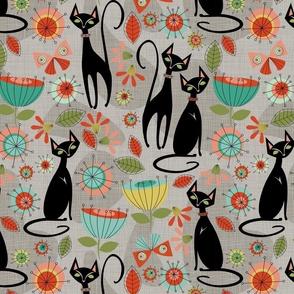 mid century cats