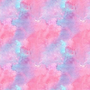 Watercolor abstract in pink, purple and blue mini