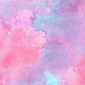 Watercolor abstract in pink, purple and blue large