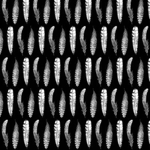 Feather Pattern | Black and White