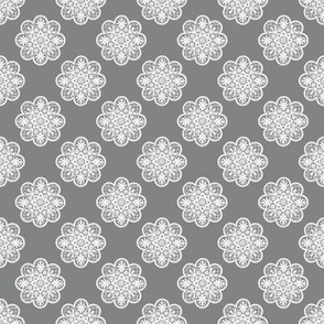 Doily Pattern | Grey and White
