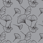 Tossed ginkgo leaves grey