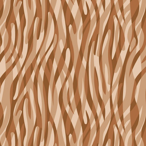 Abstract Zebra Stripes Taupe