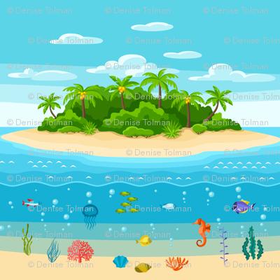 Pacific Island Sea Life Border