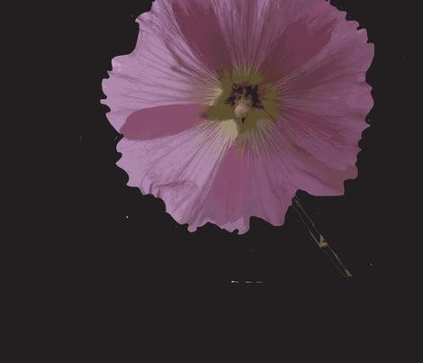 Pink on Black 1 inch flowers fabric by fleur_de_la_mer_designs on Spoonflower - custom fabric