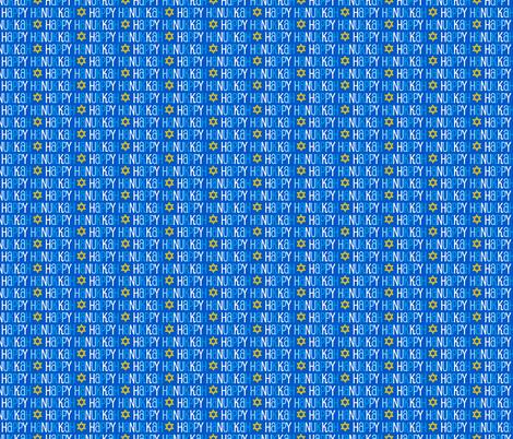Hanukkah Blue and Gold Star of David fabric by furbuddy on Spoonflower - custom fabric