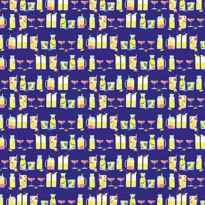 Lemonades on dark background